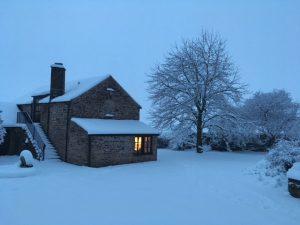 A Snowy  The Billiard Room